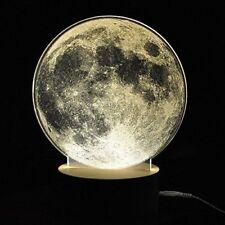 3D Lamp Full Moon LED Desk Lamp USB Plug In On Off Switch