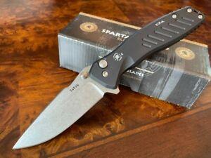 Spartan Blades Knife Pallas Folder S45VN Stonewash Button Lock