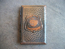 vintage 1920 Alaska Territory calling business card case copper cigarette RARE