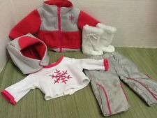 "Clothes For 18""American Girl Doll Pink SnowFlake Parka Snowboard Pants Boots"