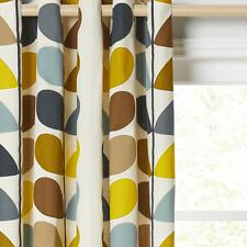Orla Kiely Multi Stem Pair Lined Eyelet Curtains Duck Egg W229cm D229cm
