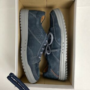 Clarks Unstructured Mens Unrhombus Fly, Navy Nubuck/Leather, Size 101/2 wide NEW
