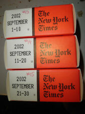September 2002 New York Times on MICROFILM - 3 reels of film
