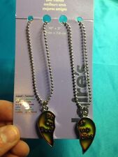 Claire's Bff Best Camp Buddies Heart Shaped Mood Necklaces