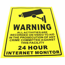 Security Camera System Warning Sign Sticker Decal Surveillance 200x250mm  a