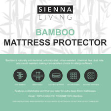 BAMBOO Mattress Protector Hypo-allergenic Anti Dustmite EXTRA DEEP SKIRT 50CM