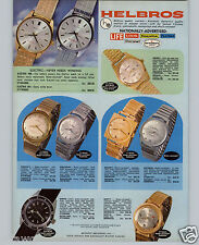 1970 PAPER AD 4 PG Helbros Wrist Watch Electric Calendar