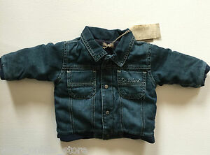 BNWT Timberland Baby Winter Padded Lined Denim Jacket Coat 3 months Blue Cotton