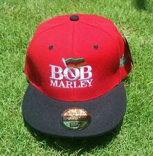 NEW! Bob Marley Hat Cap - Red & White - Free Shipping!