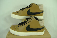 New Womens 9.5 NIKE Blazer Mid LR Brown Leather Skate Shoes $90 511242-201