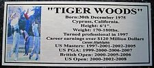 Golf Tiger Woods Collage Silver  Plaque f/post