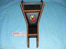 FIAT 500 F/L/R TUNNEL PORTA RADIO OGGETTI VANO STEREO NERO OCRA + LOGO ABARTH