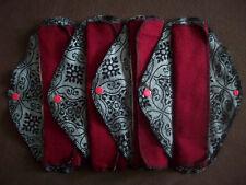 Set of 5 MamaBear LadyWear Quick-Dry cloth menstrual pads: Medium/Heavy Flow