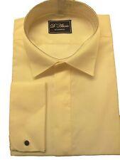 FREE POST X/Long Sleeve Ivory Wing Victorian Collar Dress Shirt 14.5 -19.5 NWT