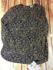 Womens JH Collectibles Button Front Blouse Size 10 Blue Green NWT MSRP $78