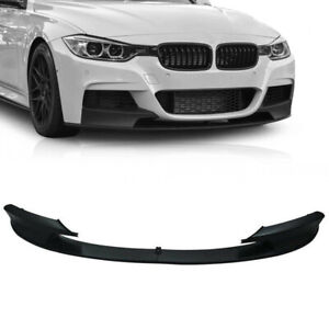 For 2012-2018 BMW F30 3 Series M Sport Front Bumper Lip Spoiler Chin Matte Black