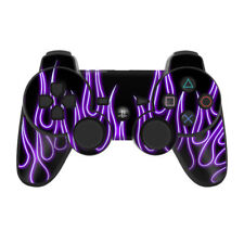 Sony PS3 Controller Skin - Purple Neon Flames - DecalGirl Decal