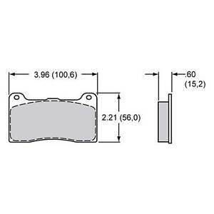 Wilwood Brake Pad Set For Dynapro 4, BP-10 Compound 7816  150-8946K