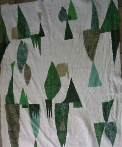 #D Vintage 50's ATOMIC GEOMETRIC Mid Century Modern Eames Barkcloth Fabric 34x50