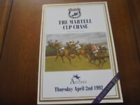 AINTREE RACE CARD APRIL 2ND, 1992 - MARTELL CUP CHASE & NORTON'S COIN