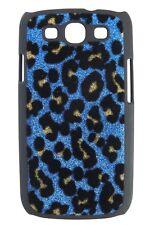 Hardcase Leopard Glitter für Samsung i9300 Galaxy S3 blau Hülle Cover Etui Case
