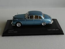 WHITEBOX. WHI 201,JAGUAR MII 1960 in METALLIC LIGHT BLUE  1 OF 1000 PCS.