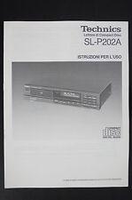 TECHNICS SL-P202A Original CD-Player Bedienungsanleitung/User/Owner`s Manual!
