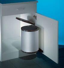 Wesco Einbau Abfallsammler Rondo 2, silber, 13 Liter, Küchen Schwenk Abfalleimer