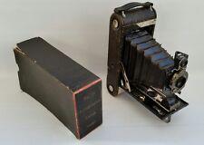 VINTAGE N. 1A AUTOGRAPHIC KODAK JUNIOR fotocamera otturatore cuscinetti a sfera con scatola originale