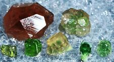 GARNET LOT FROM FAMOUS JEFFREY MINE! HESSONITE, DEMANTOID, GREEN GROSSULAR! NO14