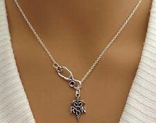 Fashion Medical Necklace for Nursig Student Vintage RN Medical Stethoscope Charm