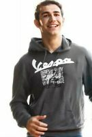 Genuine Vespa Mens Hooded Sweatshirt Hoodie Grey New RRP £86.00!!!
