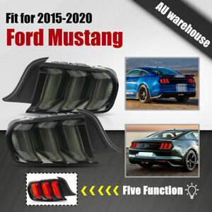 5 Modes Smoked Tail Lights LED Sequential for 15-20 Ford Mustang FM FN GT S550