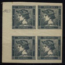 Ank 395** 2000 Kronen Blau Viererblock Top-postfrisch Hoher Katalogwert 104 Euro Österreich Vor 1945