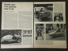 Pedal Cars 1974 pictorial Pedicar Tag-Along PPV People Powered Vehicle