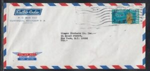 ECUADOR Commercial Cover Guayaquil to New York City 6-2-1968 Cancel