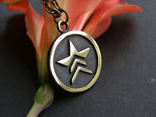 With Chain Brass Casting Mass Effect Renegade Pendant Necklace