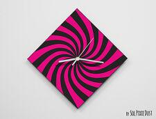 Fuxia Retro Optical Illusion Wall Clock