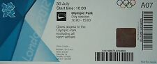 Eintrittskarte Olympia 30.7.2012 Olympic Park Day session A07
