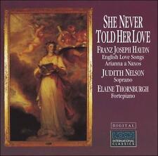 Haydn: English Love Songs / Arianna a Naxos by Nelson; Thornburgh