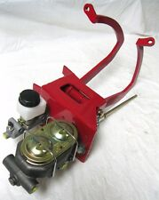 Universal Red Manual Clutch Pedal Assembly Master Cylinder Ford Chevy Street Rod