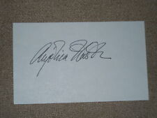 Angelica Houston Hand Signed..in Person.Autograph on 3x5 Card..Crisp...Mint.