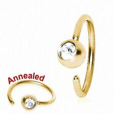 Piercing nez anneau doré avec strass
