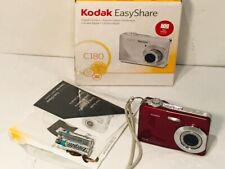 KODAK EASYSHARE C180 DIGITAL CAMERA 10.2MP 3X ZOOM RED- TESTED/WORKING