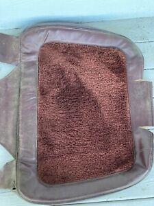 Jeep Grand Wagoneer FSJ OEM Used Front Seat Back Carpet Insert - Cordovan NICE 8