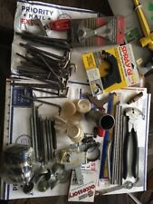 90 PIECE MIX TOOL AND PARTS ,ALLEN WRENCHES SPRINGS FENCE TOOL AND MORE  LOT#1