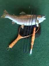 Custom made 6'6�, 4pc, 3wt, fast action fly rod, Burl wood grip