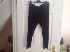 The white company black leggings, size 16, new