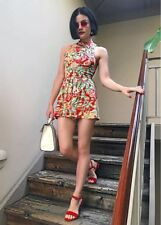 7243b1d524b2 Kimchi Blue Urban Outfitters Small UO Floral Mock Neck Open Back Romper  Stretch