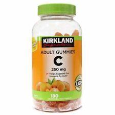 Kirkland Vitamin C 250mg 180 ct Gummies Immune Support Tangerine Exp: 09/2021